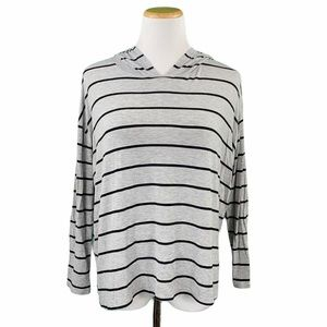 Cotton On Striped Oversized Long Sleeve Hooded Tee